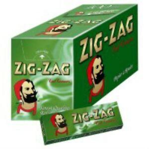 Zig-Zag-Zigarettenpapiere-Gruen-Volle-Packung-mit-100-Broschueren