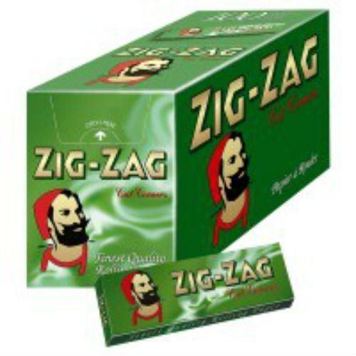 Zig Zag Zigarettenpapiere Grün (Volle Packung mit 100 Broschüren)