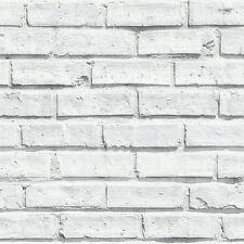 Bianco Carta Da Parati Effetto Mattoni by Arthouse 623004