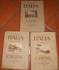 Luigi Parpagliolo - Italia - 3 volumi (Lazio, Lombardia, Campania)