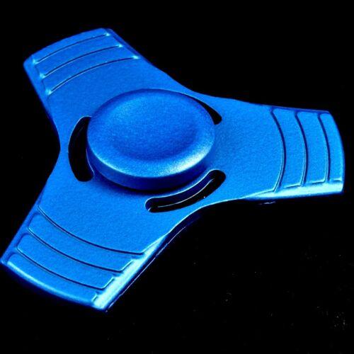 Finger Hand Fidget Spinner 100/% Metall blau Präzisions Kugellager Top Spin 4
