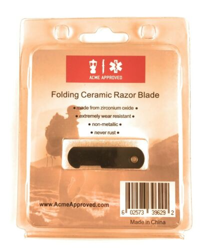 Acme Approved Folding Ceramic Razor Blade