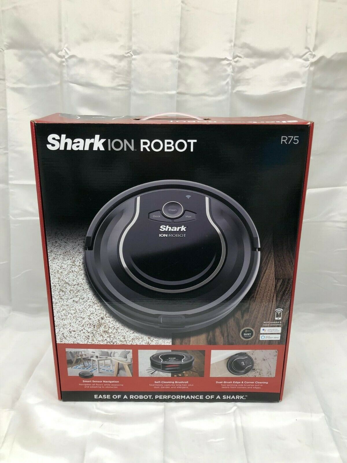 Shark ION ROBOT RV75 Vacuum Wi-Fi Connectivity BRAND NEW SEALED FREE SHIPPING