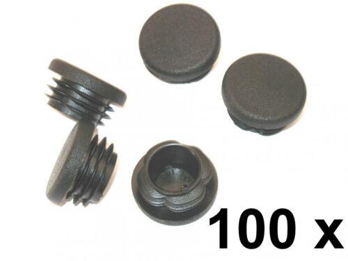 100 x Lamellenstopfen Rundrohrstopfen Ø 40 mm Außen 0.10€//1St Stopfen SCHWARZ