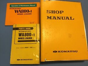 KOMATSU-WA800-1-SERVICE-SHOP-REPAIR-BOOK-MANUAL-parts-book-and-maintenance