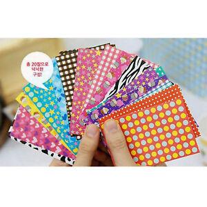 40x Vivid Color Pattern Film Photo Stickers For FujiFilm Instax Mini 8 7s 25 50s 4894425671831