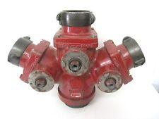 Akron Brass 2583 3 Way Suction Siamese Valve Wye Firefighting Equipment