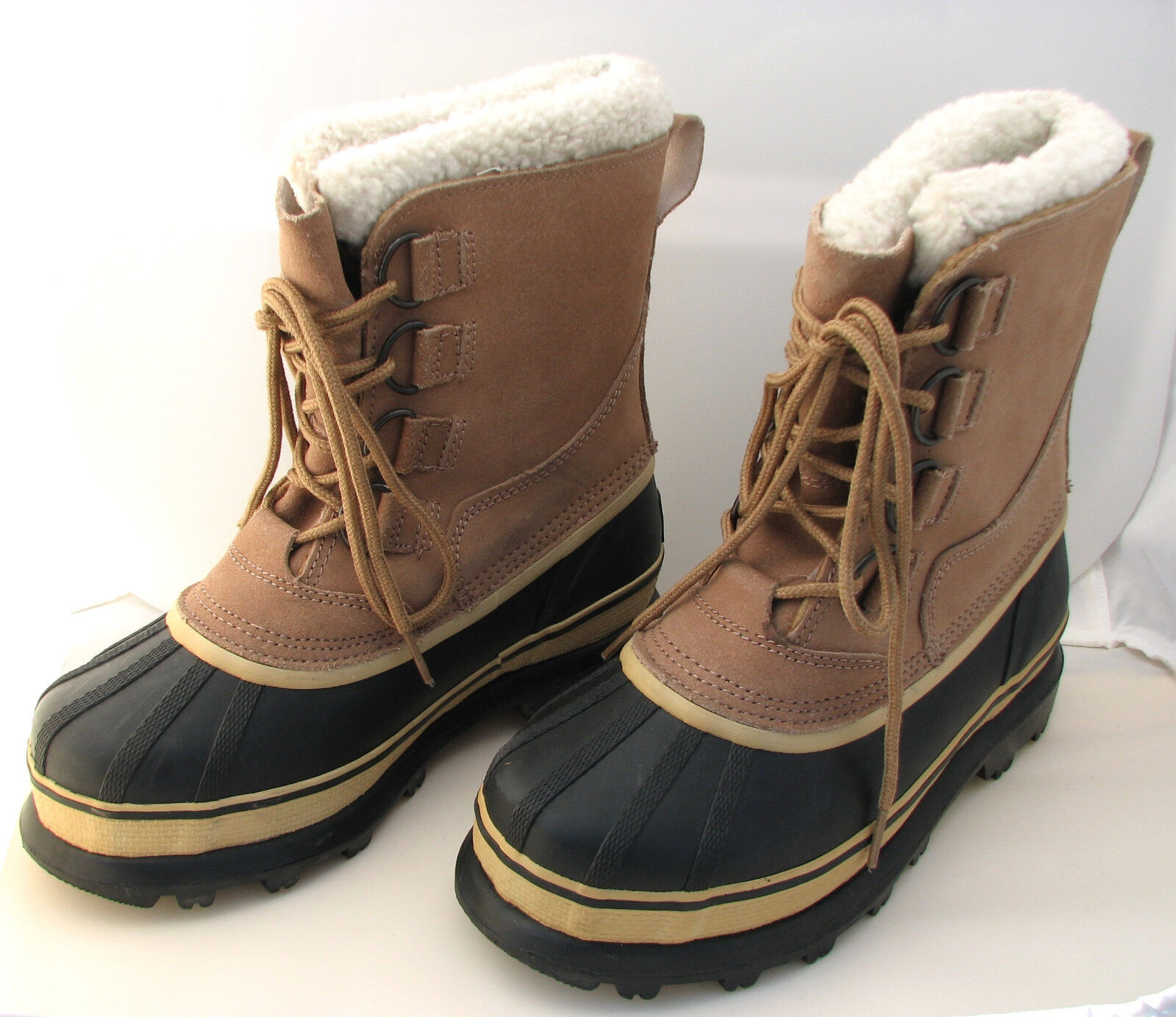 Crater Ridge Women's Suede & Rubber Uppers Lined Winter Boots Size 7 LIKE-NU