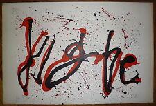 Jean Cortot Lithographie originale signée 1965 abstraction art abstrait