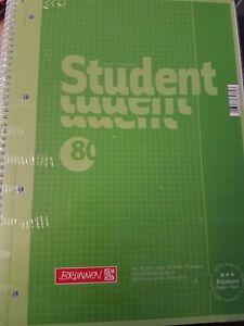 Brunnen-A4-Collegeblock-Student-Spiralblock-90g-liniert-kariert-90g-Auswahl