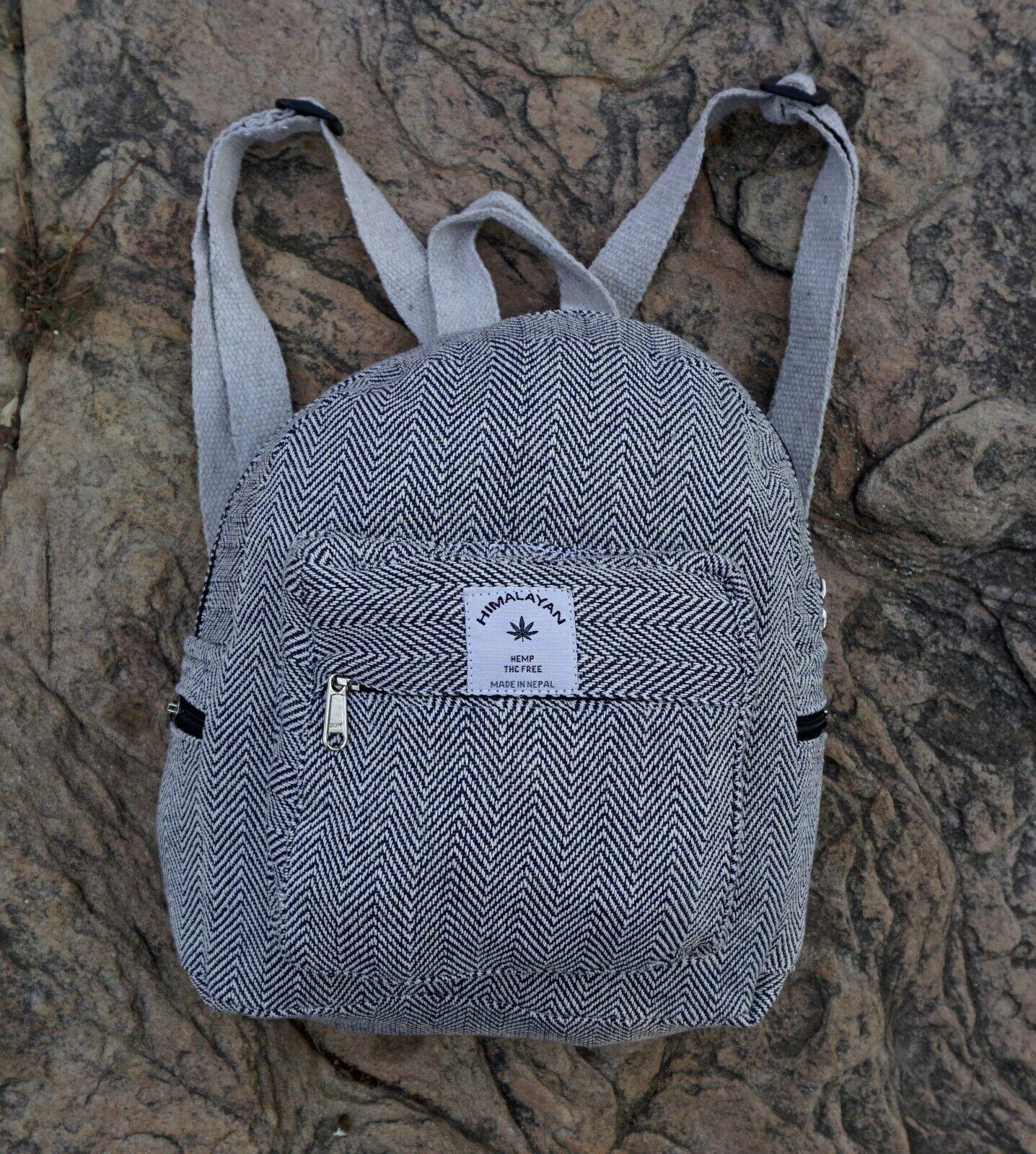 Handmade Hemp Mini Backpack, by Mugambo Fashion