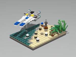 Details About Lego Star Wars Moc Battle On Scarif W U Wing Fighter Pdf Instructions Only