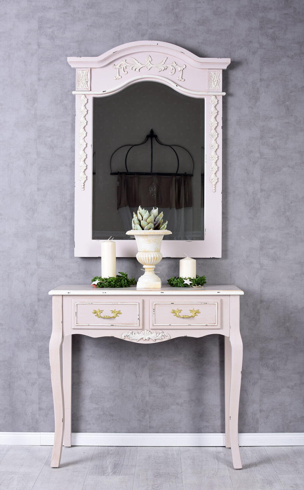 Console de table shabby mur style maison Campagne coiffeuse