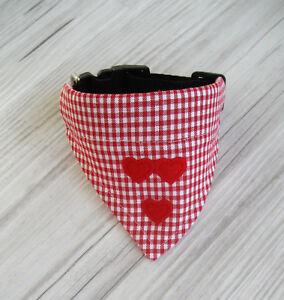 Halsband-verstellbar-Halsumfang-24-28-cm-Hundetuch-Hundehalstuch-Hundebekleidung