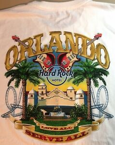 Hard-Rock-Hotel-ORLANDO-2013-White-City-Tee-T-SHIRT-XL-Mens-White-New-with-Tags