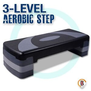 Aerobic Workout Home Gym Fitness Exercise 4 Block Bench Step Level Stepper Ebay