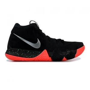 super popular 621aa 9f0dc Image is loading Mens-NIKE-KYRIE-4-Black-Basketball-Trainers-943806-
