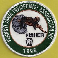 Pa Pennsylvania Fish Game Commission Premier Issue 96 Pta Fisher Taxidermy Patch