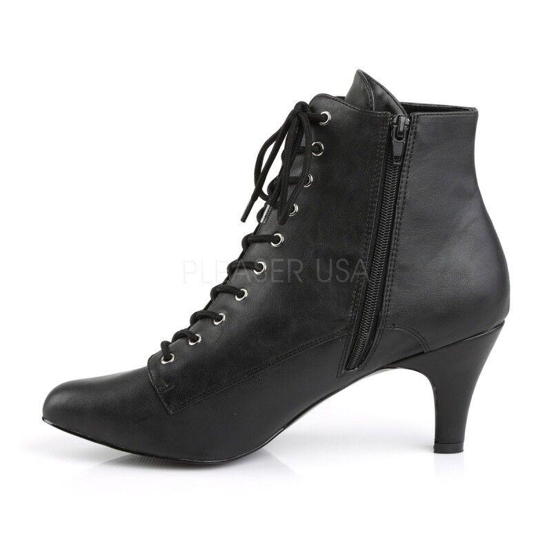 Pleaser Divine - 1020 sexy... botín negro góticos grunge Dark cosplay Gogo sexy... 1020 892501