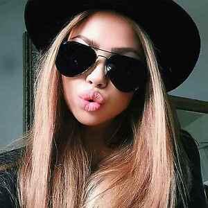 Classic-Aviator-Men-Women-Sunglasses-Metal-Frame-Dark-Black-Lens-Retro-Style
