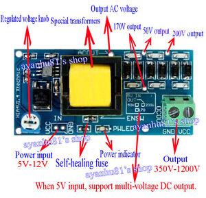 High Voltage Dc Dc Boost Converter 5v 12v Step Up To 300v 1200v