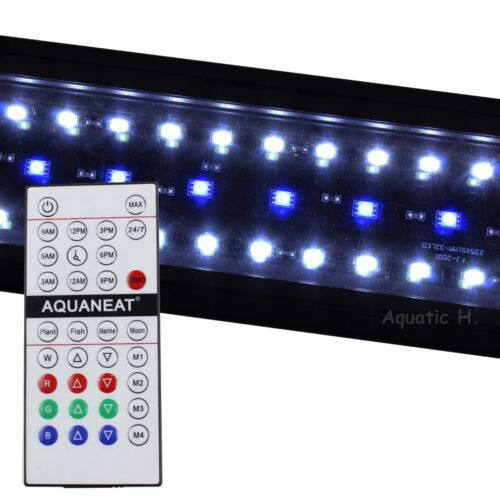 "12""-72"" RGB Remote Control LED Light HI LUMEN Reef Aquarium Planted +24/7 Automa"