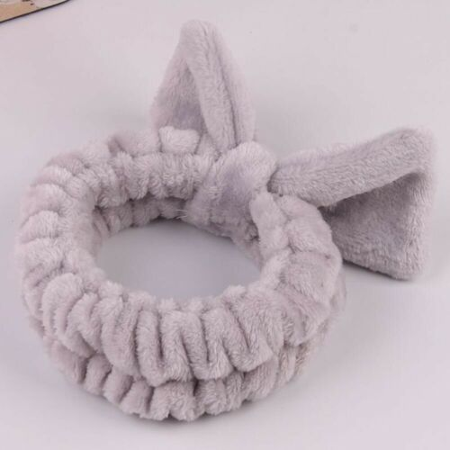 Details about  /Cute Rabbit Ears Headband Soft Plush Hairband Wash Face Makeup Hair Accessories
