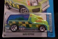 HW HOT WHEELS 2014 HW CITY #43 RAPID RESPONSE EMERGENCY VEHICLE HOTWHEELS GRN