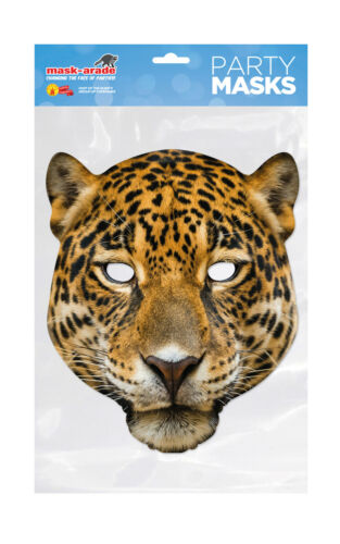 Leopard Animal Face Party Mask Card A4 Fancy Dress Ladies Men Kids Safari Cat