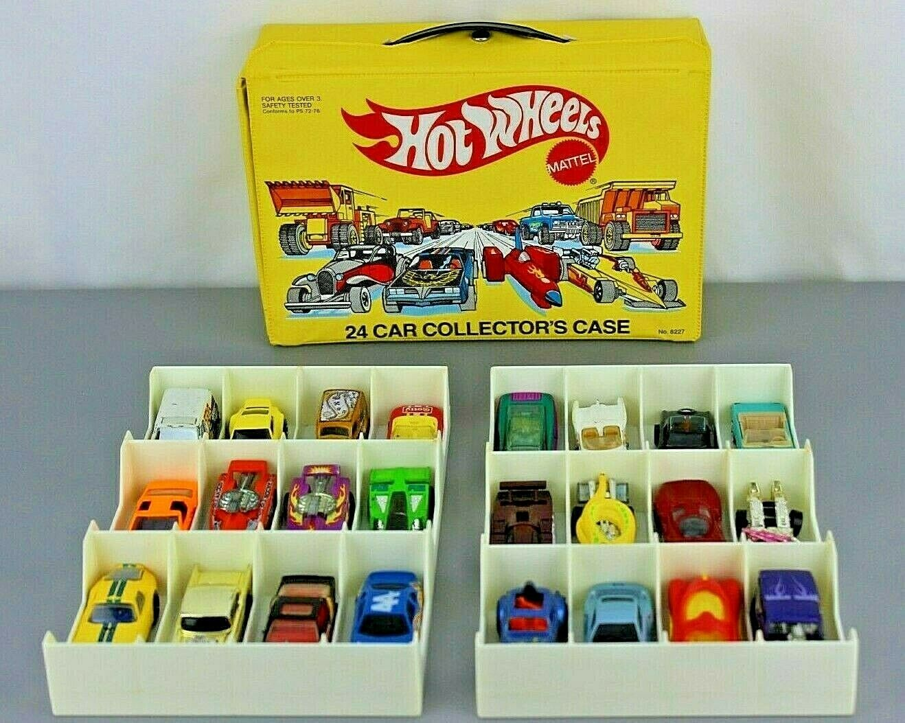 Diecast Collection Mixed Lot of 24 Vehicles with Vintage Hot Wheels Case