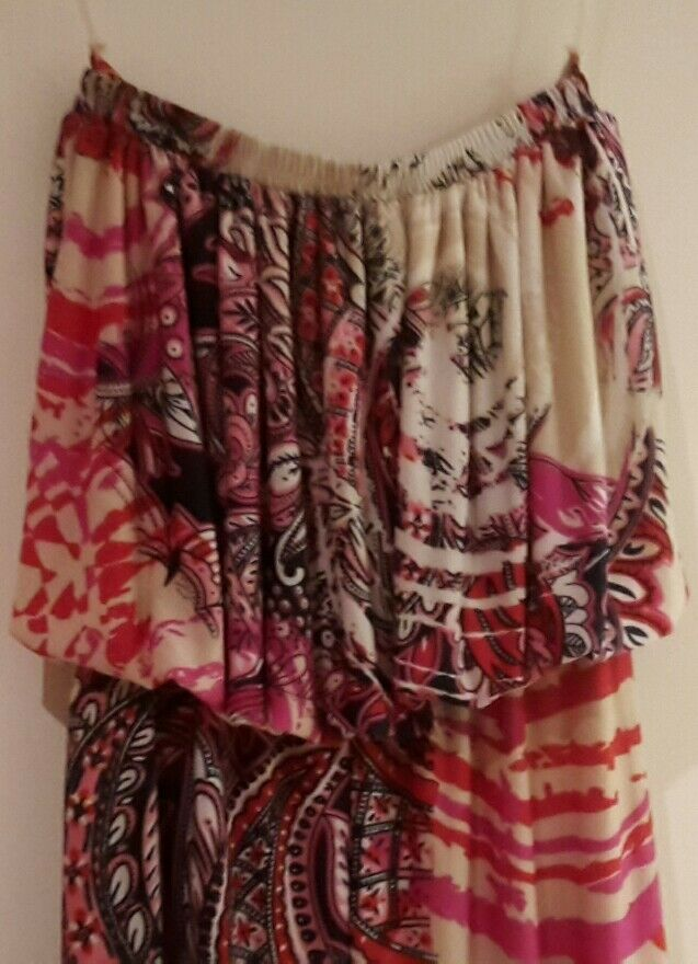 Playsuit QED London Size xs  6 White Red orange Floreal And Elegant