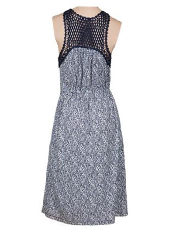 1c1dedcc38e ... NEW Bob Timberlake Women s Printed Crochet Dress Size XS XS XS 52  Retail 2cb027 ...