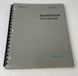 Tektronix 620 Monitor With Options Instruction Manual FREE SHIPPING