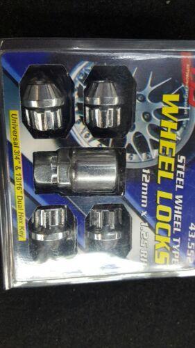 12mm x 1.25 Acorn Chrome 12mmx1.25 HS Wheel Locks