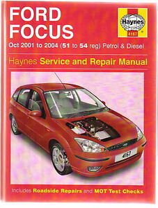 ford focus petrol diesel oct 2001 2004 haynes service repair rh ebay com 2004 ford focus repair manual download 2004 ford focus repair manual download