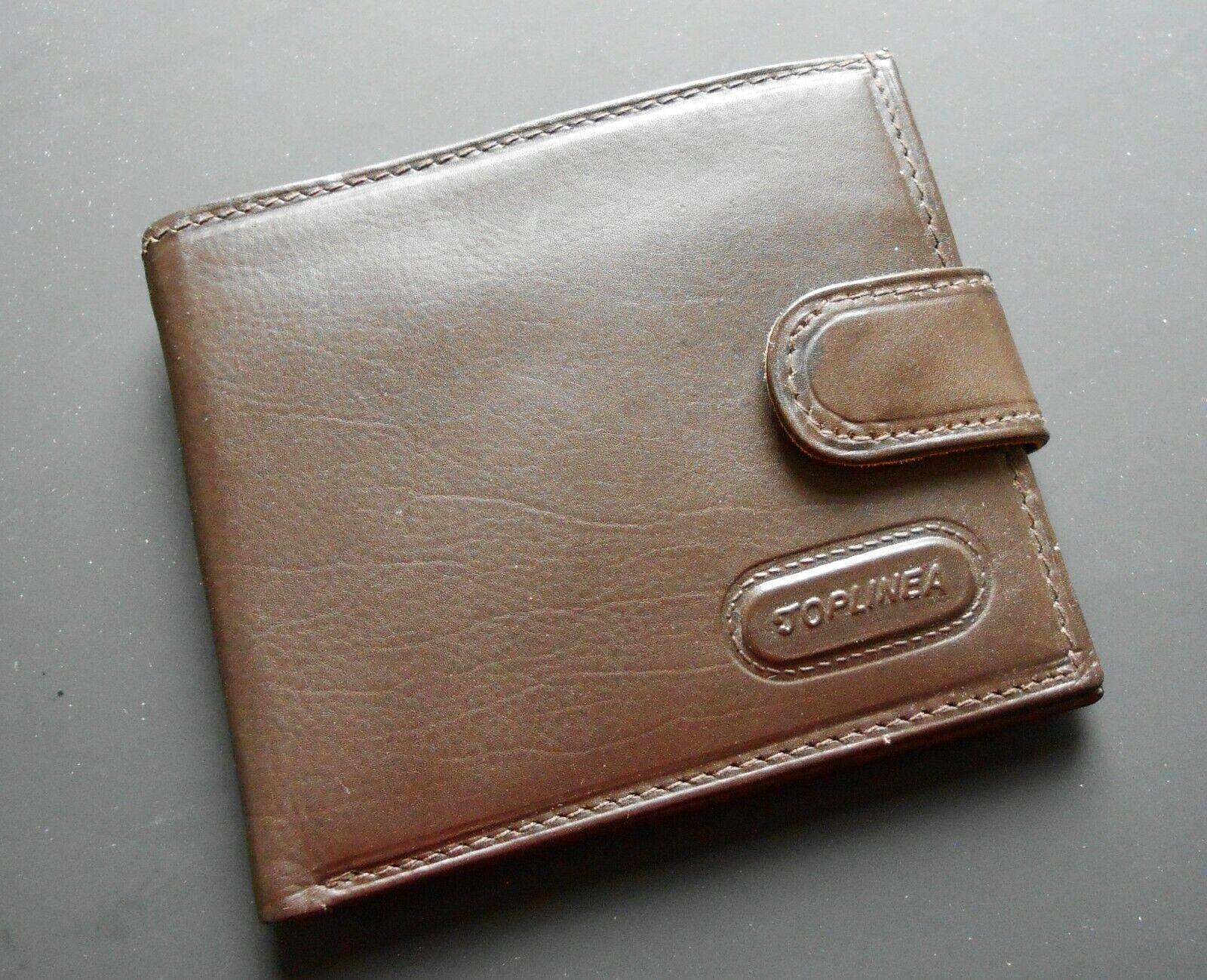 Men's ~ Toplinea ~ Soft Brown Leather Bi-Fold Wallet ~ Excellent Condition