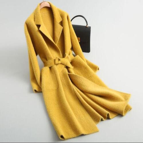 De Outwear Pour Fourrure Laine À De Manteau Trench De De Capuche Veste Ceinture De Cachemire Sbox Laine Cachemire Femmes aYFqwv