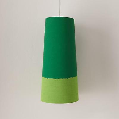 """15"""" LAND OF NOD HANGING PENDANT LAMP Green Light Kids Bedroom Cone Ceiling NEW"""