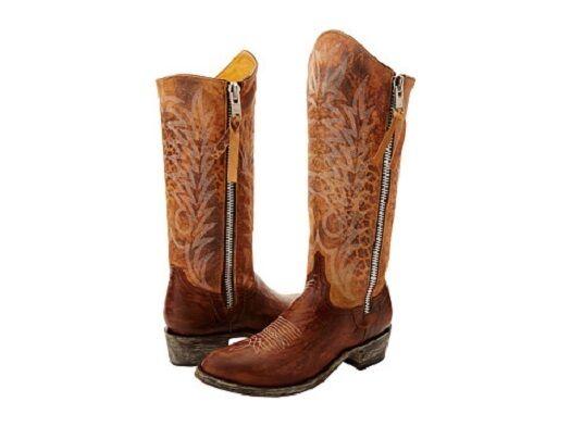 Nuevo Nuevo Nuevo En Caja Para Mujer Old Gringo Razz cremallera botas de latón, número 8.5  online barato