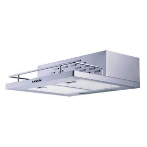 Dunstabzugshaube 60 cm Wandhaube Unterbauhaube LED Unterbau Edelstahl respekta
