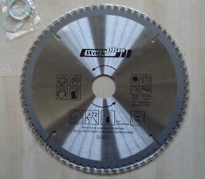 Hm Lame de Scie Circulaire 210 X 30 avec 72 Dents Aluminium Ne-Métal Etc