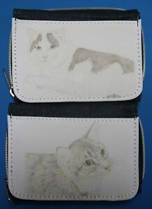 Denim-Purse-with-prints-of-Original-Cat-Drawings-Ginger-Black-amp-White-Tabby