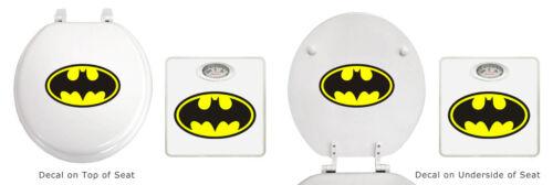 White Toilet Seat Bathroom Scale Set Round Seat Dial Scale Novelty Theme Logo