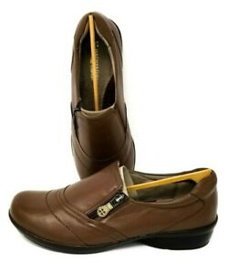 NEW-Women-039-s-Naturalizer-9W-Clarissa-Coffee-Bean-Brown-Leather-Casual-Shoes-Wide