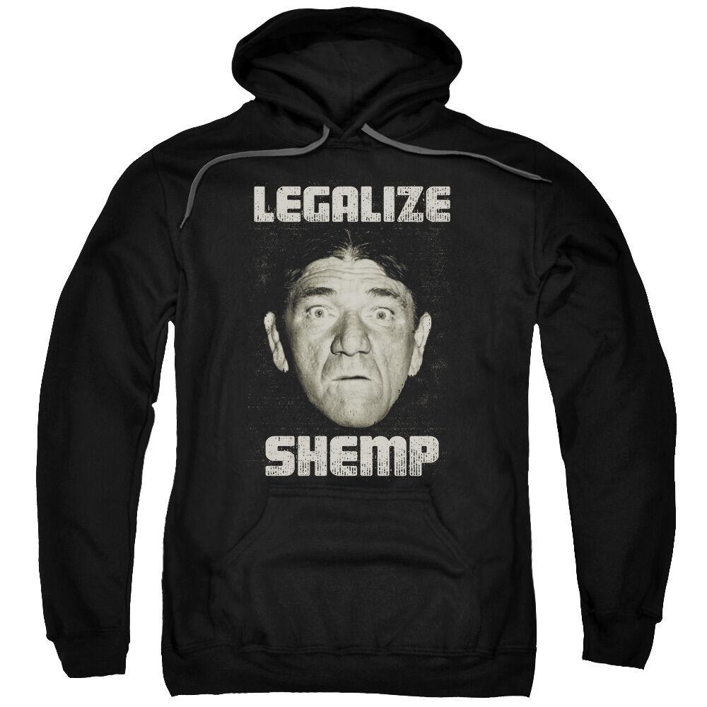 Three Stooges LEGALIZE SHEMP Licensed Adult Sweatshirt Hoodie