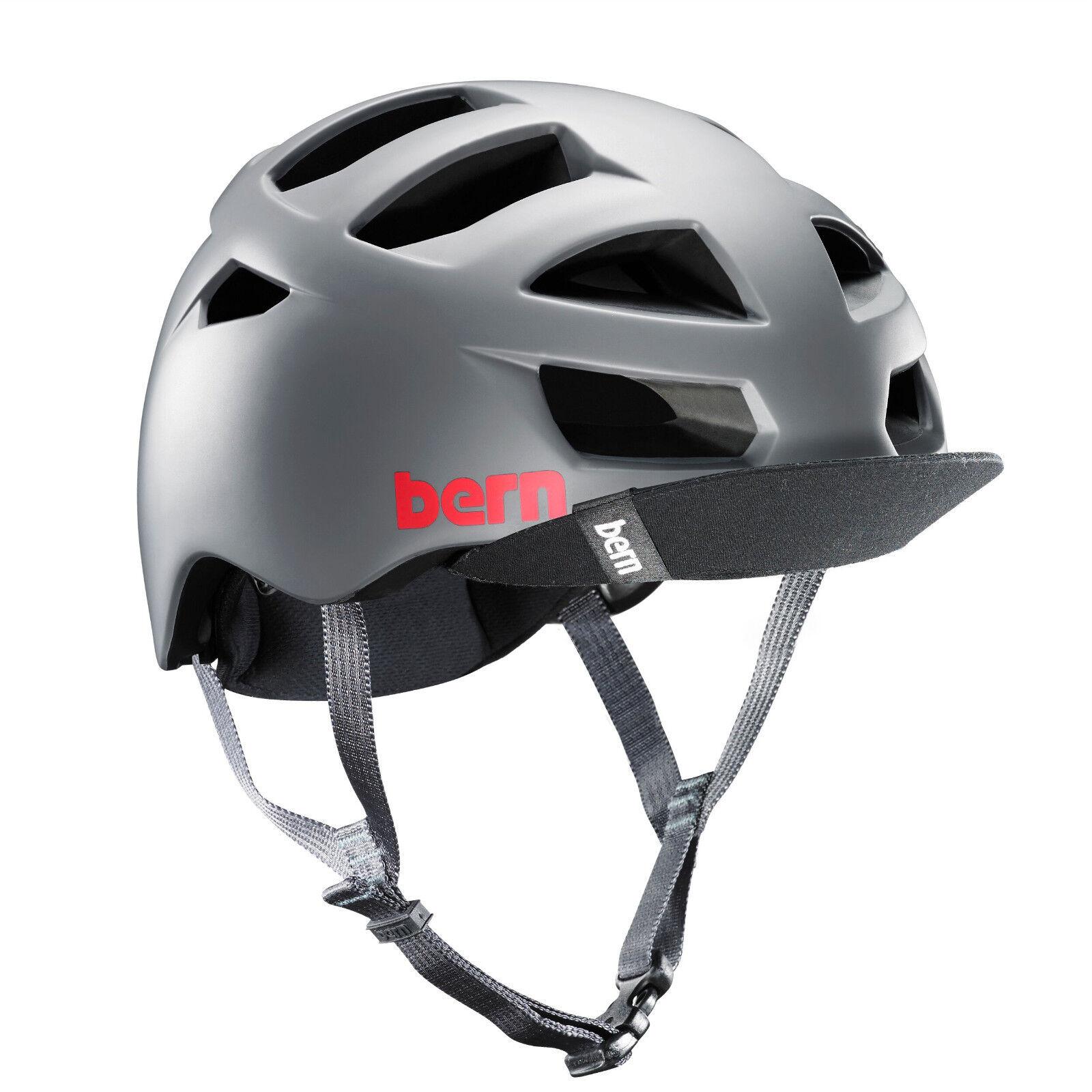 Bern Allston Zipmold Bike Cycle Boa Helmet Matte Grey S-M   L-XL   XXL-XXXL