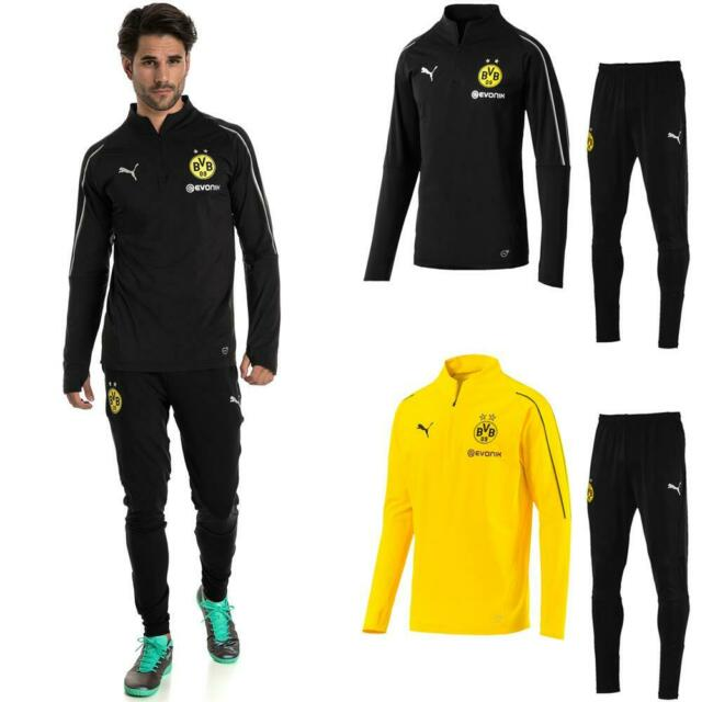 Puma BVB Borussia Dortmund Herren Trainingsanzug 14 Zip Top + Hose 201819