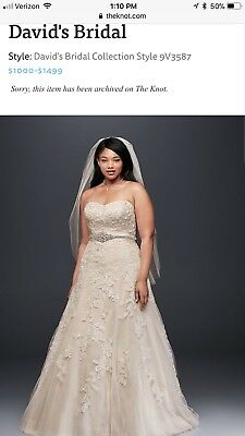 Gently used plus size wedding dress for sale. Originally purchased for  $1400 | eBay