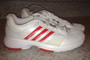 17444a5050 Image is loading ADIDAS-AdiPower-Barricade-7-White-Core-Tennis-Shoes-