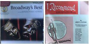 100% De Qualité Broadway's Best Violin Book Hal Leonard I Recommend Oboe Method Les Miserables